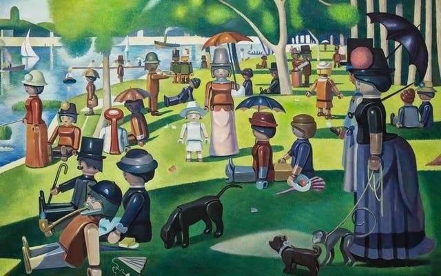 すべての人間がプレイモービルのおもちゃに置き換えられた古典的な絵画