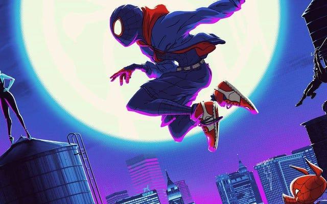 このゴージャスなスパイダーマン:スパイダーバースのポスターには、独自の複数の次元があります