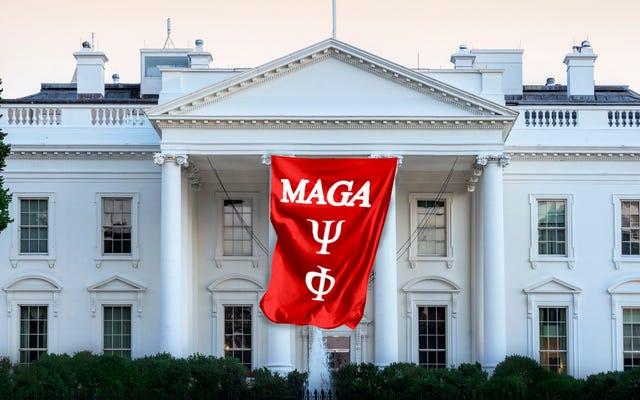 La Maison Blanche est maintenant une maison de fraternité et tout le monde laisse tomber