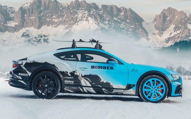 このベントレーコンチネンタルGTは、スキージョリングと呼ばれるスポーツでスキーヤーを牽引するために作られました