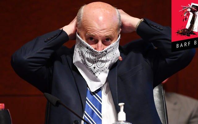 馬鹿な共和党議員はマスクを身に着けていると彼にコロナウイルスを与えたと考えている