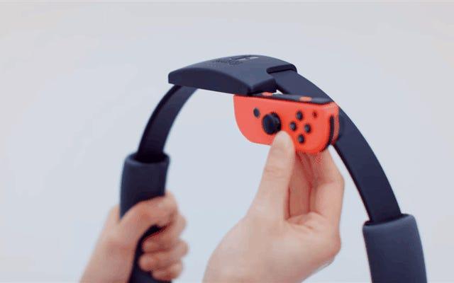 Nintendo muốn bạn tập thể dục bằng cách giữ một Joy-Con vào chân và tay kia vào vòng Pilates