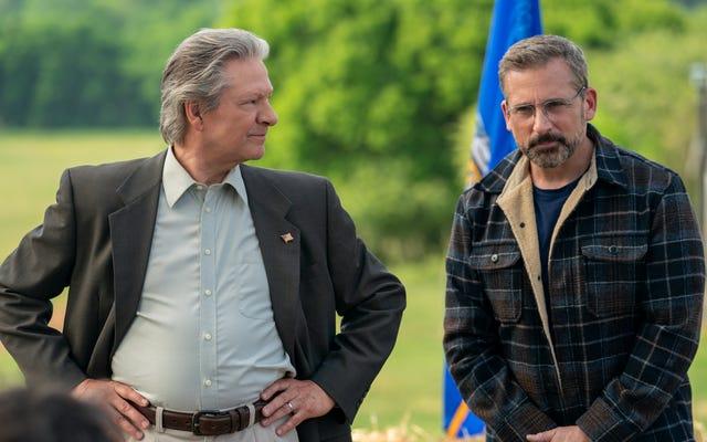 La satire politique Irresistible de Jon Stewart aurait semblé évidente il y a deux présidents