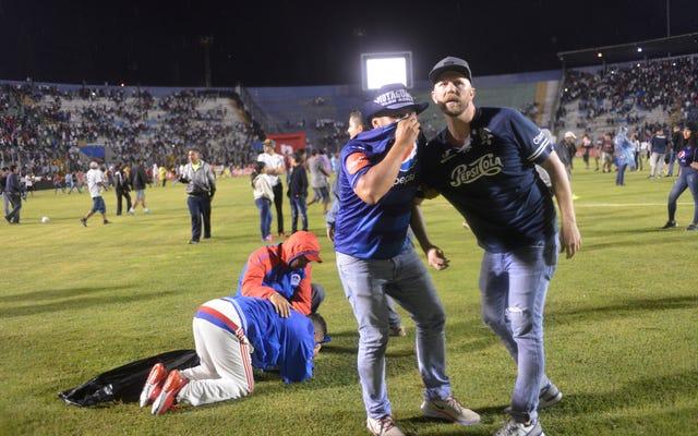 ホンジュラスのサッカー暴動で3人が死亡、少なくとも10人が負傷