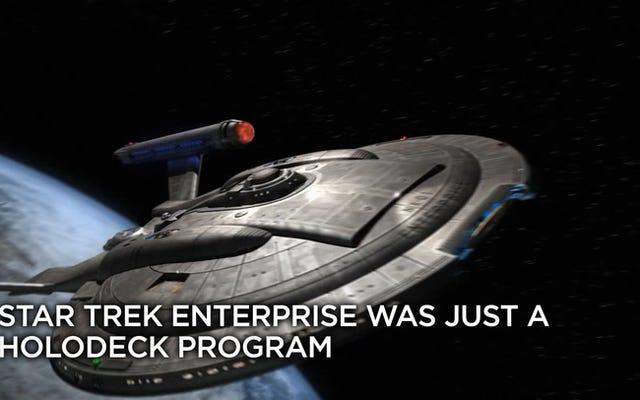 スタートレックのすべて:エンタープライズは本当にライカーのホロデッキプログラムでした