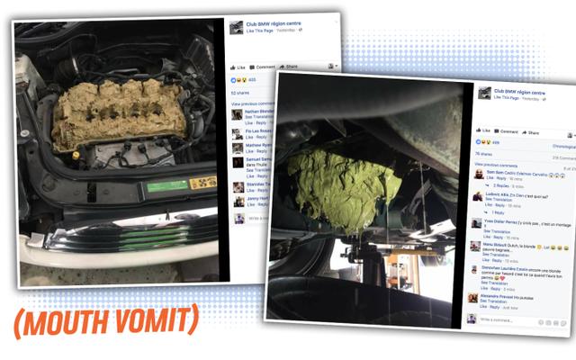 これは、車のエンジンにオイルの代わりにウィンドシールドウォッシャー液を充填した場合の嫌な結果です。