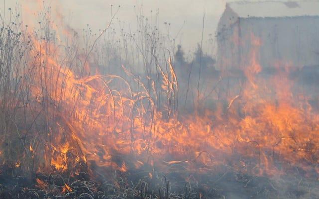 中西部の活発な火災シーズンは警告です