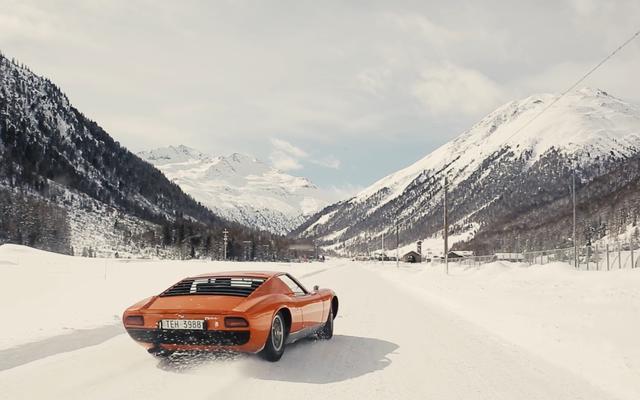 Ya Pasti Hancurkan Lamborghini Miura Di Sekitar Salju
