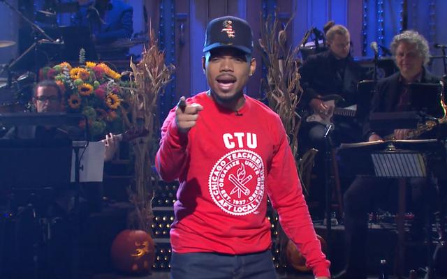 Chance the Rapper daje okrzyk na Chicago Teachers Strike w SNL