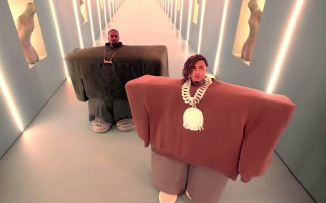 Канье Уэст объединился с Lil Pump и Спайком Джонзом для создания нового необычного видео