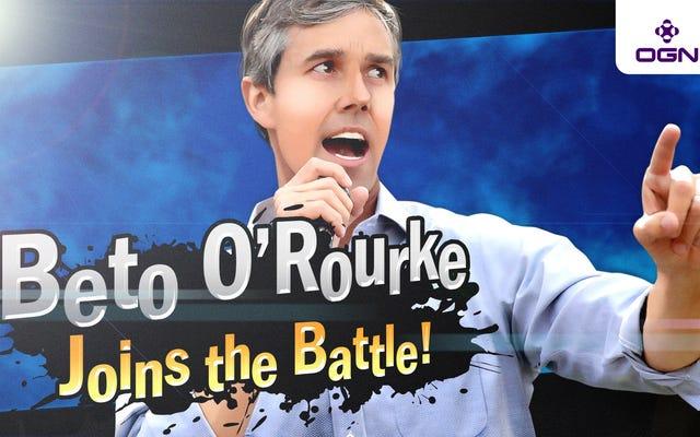 การทำลายพื้นที่ใหม่: Beto O'Rourke ได้กลายเป็นผู้สมัครชิงตำแหน่งประธานาธิบดีคนแรกในฐานะนักสู้ DLC 'Smash Ultimate'