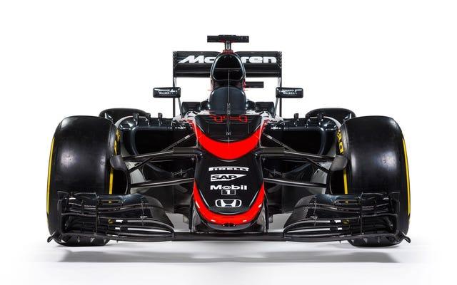 McLaren descarta o cromo para uma nova libré vermelha e preta foda