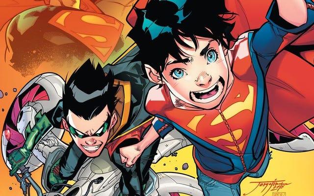 ロビンとスーパーボーイがこのスーパーサンズ#1限定で脚光を浴びる