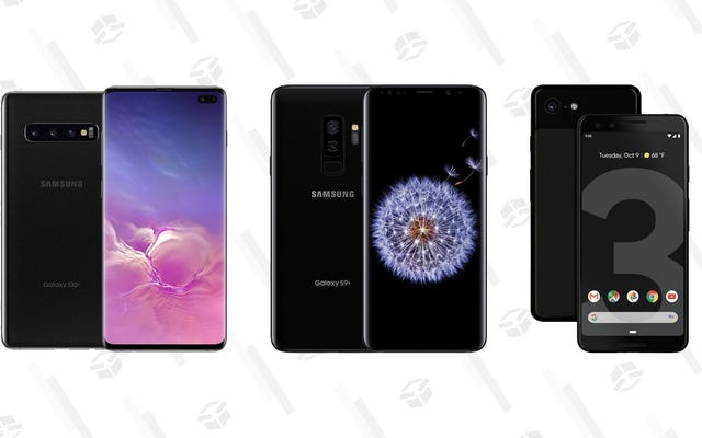 Get a Refurbished Samsung Galaxy S10+ for $450, Galaxy S9 and Pixel 3 for $240 at Woot