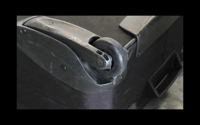 Поменяйте багаж на ролики для роликовых коньков для большей прочности