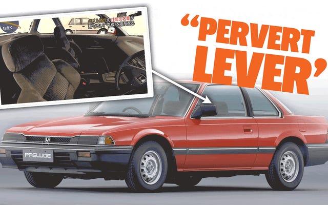 Le Honda Prelude était controversé au Japon à cause de quelque chose appelé le `` levier pervers ''