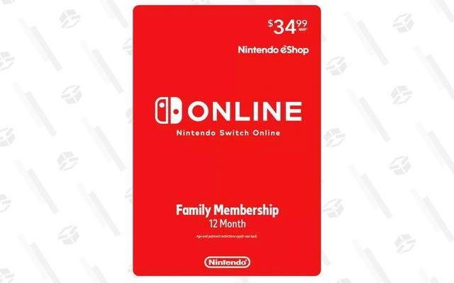 Vous pouvez obtenir une année entière de Nintendo Switch en ligne pour vous et votre famille pour un prix modique de 28 $