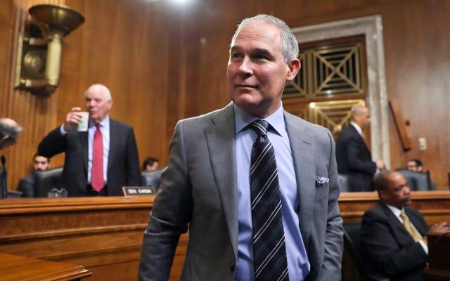 Le chef de l'EPA, Scott Pruitt, déclare que la Bible nous apprend à `` récolter '' des `` ressources naturelles '' comme le gaz, le pétrole et le charbon