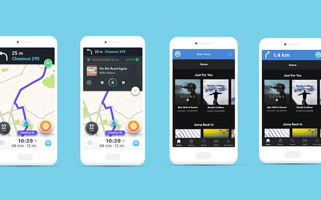 Wazeはアプリを離れることなくSpotifyをコントロールできるようにします