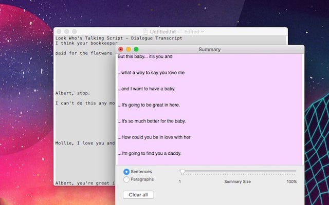 Użyj wbudowanej funkcji podsumowania komputera Mac, aby skrócić długie bloki tekstu