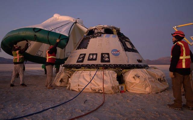 ボーイングのスターライナー宇宙船の最初の飛行はほとんど災害で終わった