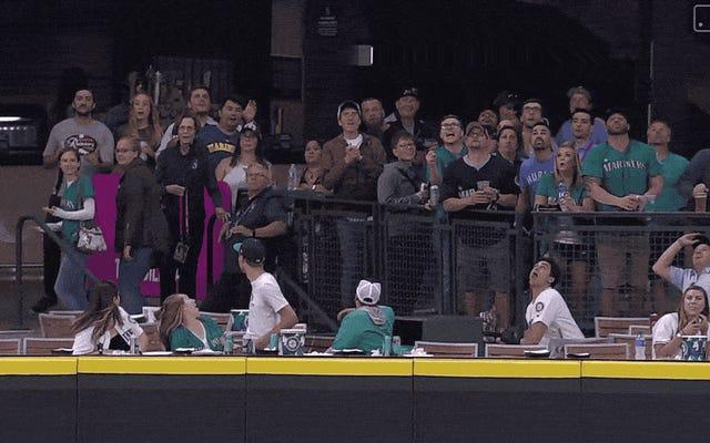 これは、ホームランボールを試してキャッチするための最良の方法ではありません