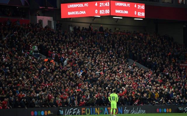 Trận thua của Barcelona trước Liverpool là lỗi không của riêng ai và của mọi người