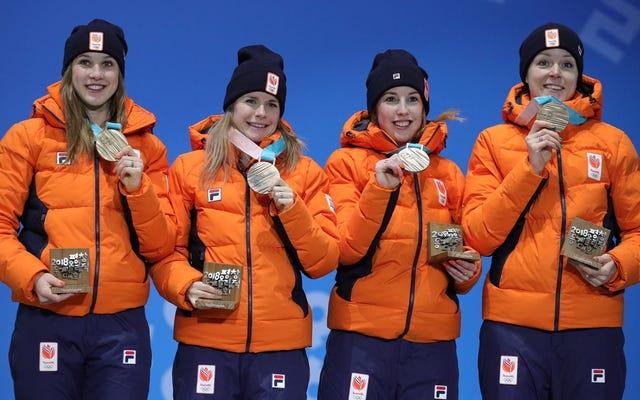 オランダのショートトラックチームが世界記録のレースで銅メダルを獲得、決勝に出場すらしなかった