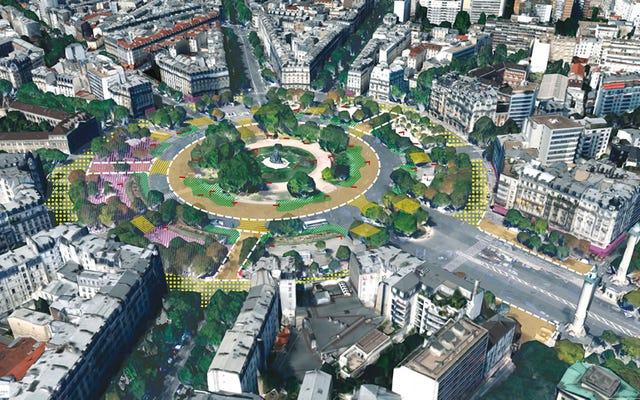Париж отдает людям 50 процентов своих легендарных кольцевых развязок