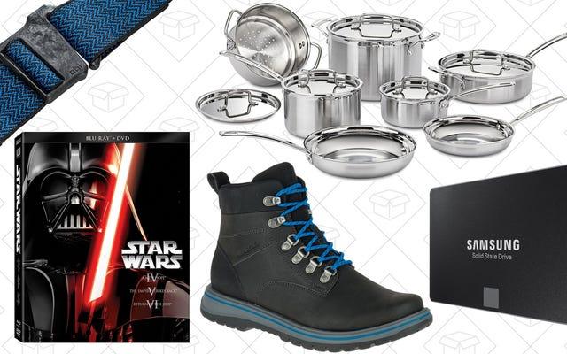 Les meilleures offres du jour: bottes, disques SSD, ustensiles de cuisine et plus