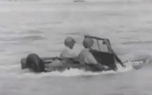 これが第二次世界大戦中に米軍がジープを防水した魅力的な方法です