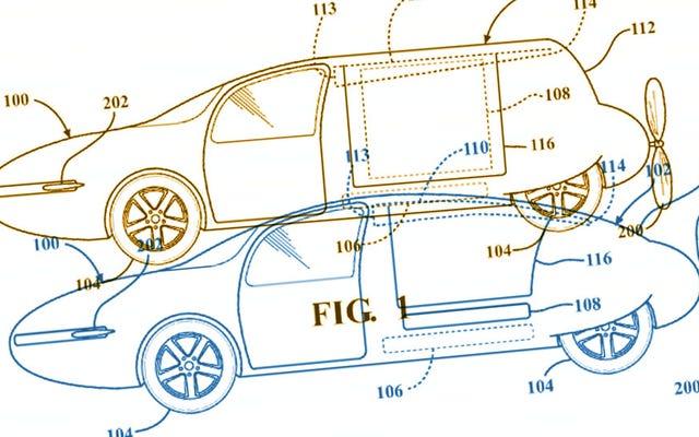โตโยต้าได้รับสิทธิบัตรสำหรับรถยนต์บินได้เครื่องยนต์วางหลังที่มีตัวถังที่แปลงร่างแล้ว แต่ไอ้พวกนั้นก็ยังสร้าง Camrys อยู่