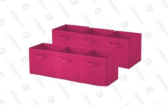 Este paquete de 6 contenedores de almacenamiento plegables cuesta solo $ 17