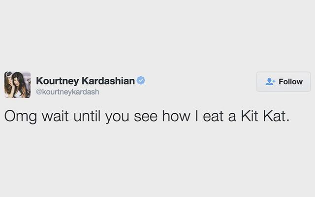 Intenté comerme un Kit Kat como Kourtney Kardashian, y nunca creerás lo que pasó después