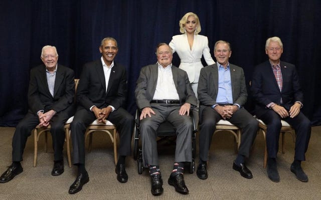 Ecco l'onorevole Lady Gaga giusta con tutti gli ex presidenti