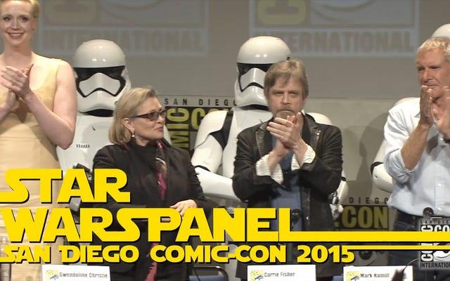 ย้อนอดีตช่วงเวลาที่ดีที่สุดจากแผง Comic-Con มหากาพย์ของ Star Wars