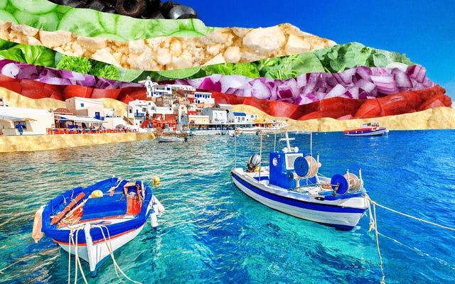 夏の7層ディップを地中海に連れて行ってください