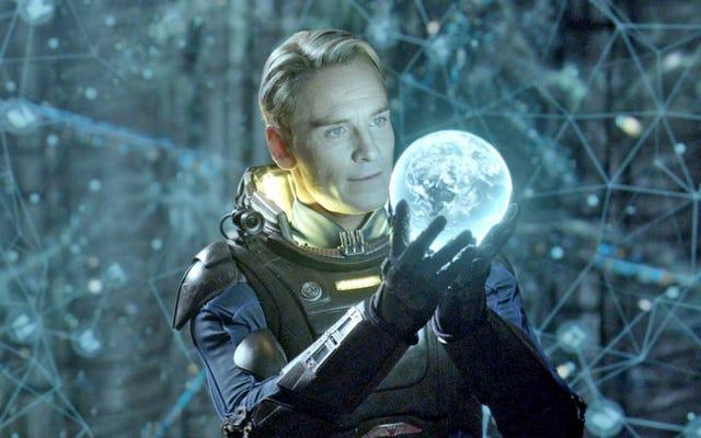 साइबोर्ग का कटा हुआ सिर माइकल फेसबेंडर अधिक एलियन छोड़ता रहता है: वाचा संकेत