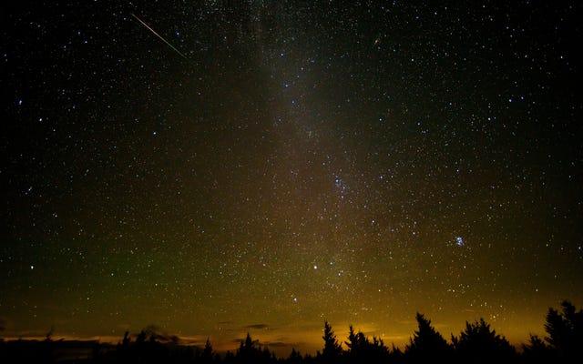 今夜のペルセウス座流星群のピークを見る