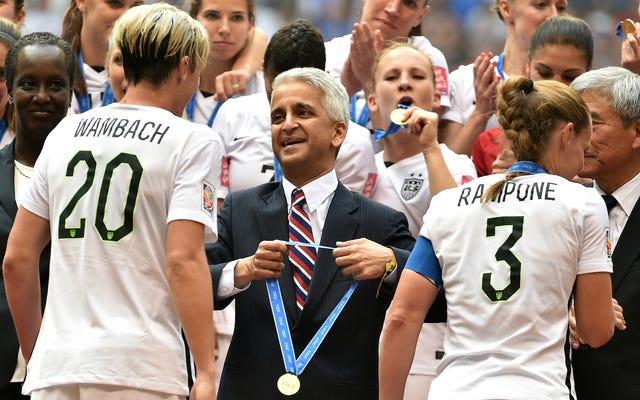 米国サッカー連盟に提訴された米国女子代表