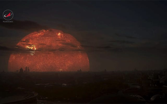 このビデオは、さまざまな太陽で地球がどのように見えるかを示しています