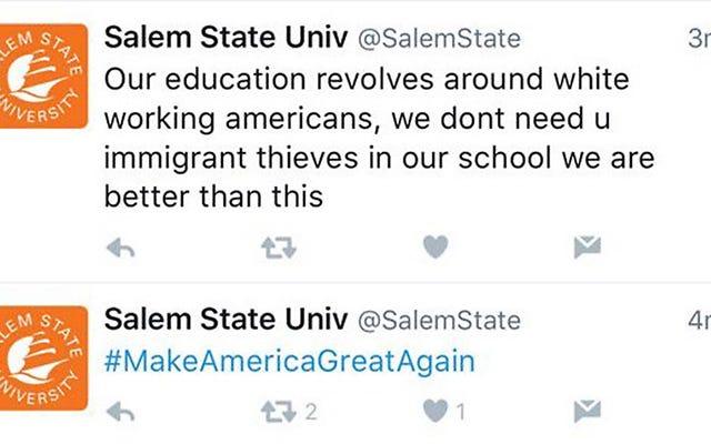 セーレム州立大学は、事件をハッキングした後、人種差別的なツイートについて謝罪します