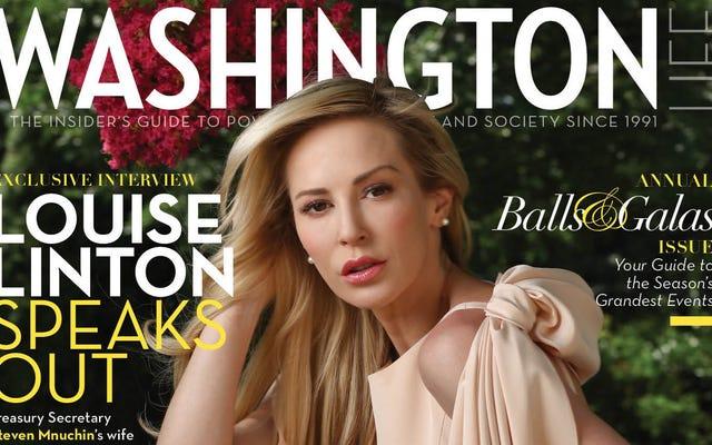 ルイーズ・リントンの謝罪ツアーの最初の目的地は、SocialiteMagazineの表紙です。
