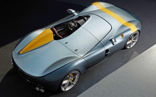 フェラーリのワンシートモンツァSP1は絶対に素晴らしいように見えます
