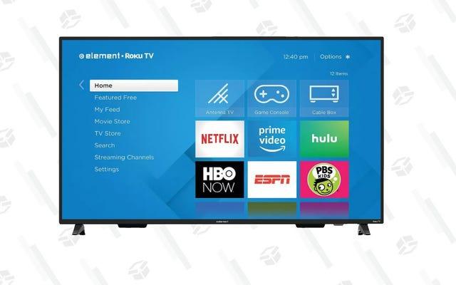 Obtenez un téléviseur 4K de 65 po avec Roku intégré pour 280 $