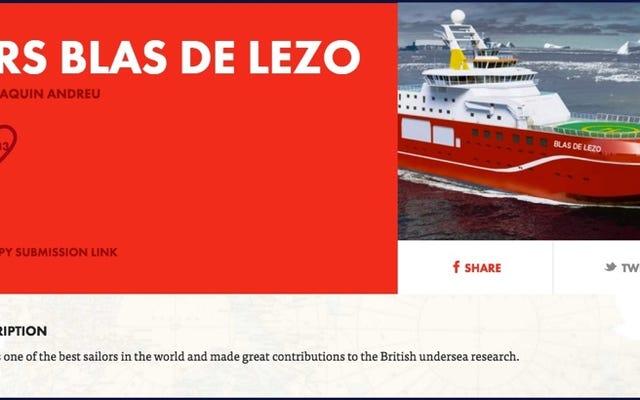"""Le navire britannique ne s'appellera pas Blas de Lezo, comme le proposait Forocoches, pour être """"offensif"""""""