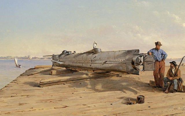 南軍の潜水艦の乗組員が自国の武器の手で死んだ驚くべき方法