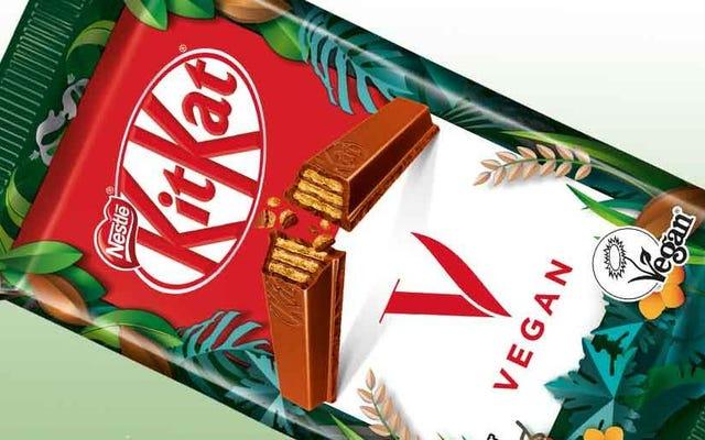 Отломите меня от этого нового батончика KitKat на растительной основе