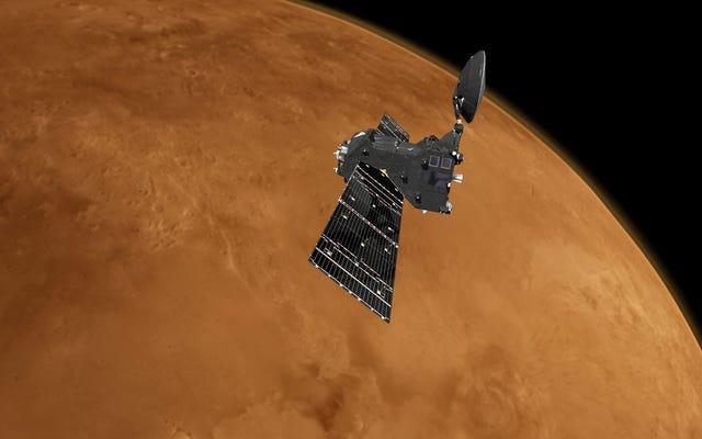 यूरोप का गैस-सूँघने का अन्तरिक्ष यान मंगल से बाहर निकलने के लिए विज्ञान की ओर रुख करता है