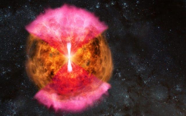 記念碑的な中性子星合体の周りの電波の明るさは紛らわしい話をします